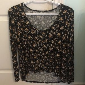ae floral long sleeve